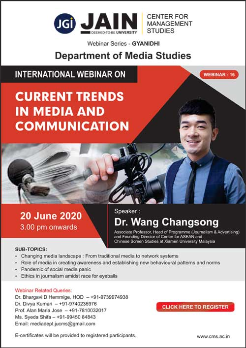 Current Trends in Media and Communication