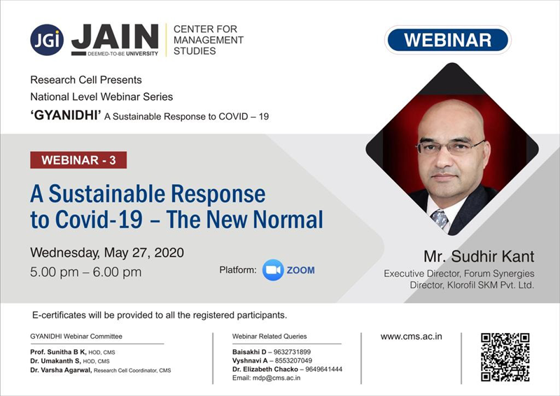 A Sustainable Response to COVID-19 - The New Normal