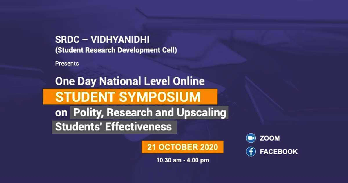 Student Symposium on Polity, Research, and Upscaling Students' Effectiveness